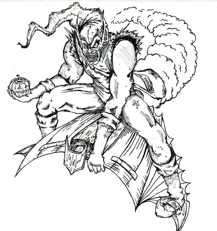88 Best Rad Images On Pinterest Skull Art Skulls And Crust Punk Green Goblin Coloring Pages