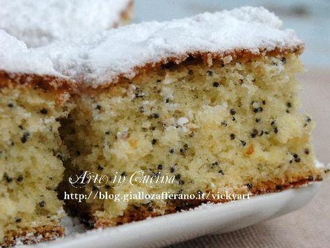 Torta al limone con farina di riso senza glutine