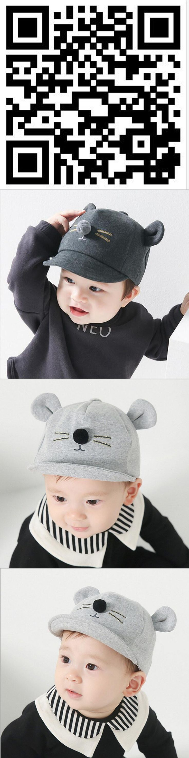 2017 new Cute Baby Cartoon Cat Hat Kids Baseball Cap Palm Newborn Infant Boy Girl Soft Cotton Caps Infant Sun Hat free shipping