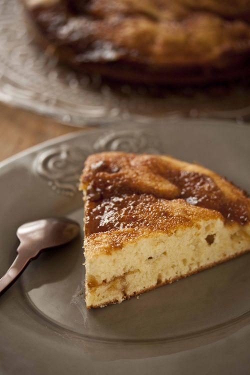 Tarte au sucre, creamy sugar pie
