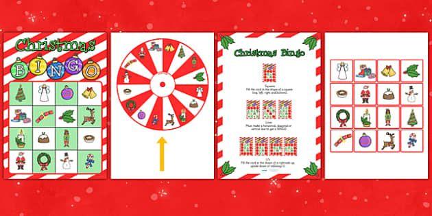 Christmas Spinner Bingo Game
