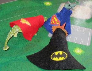 Super Hero Dinosaurs! What a cute idea!