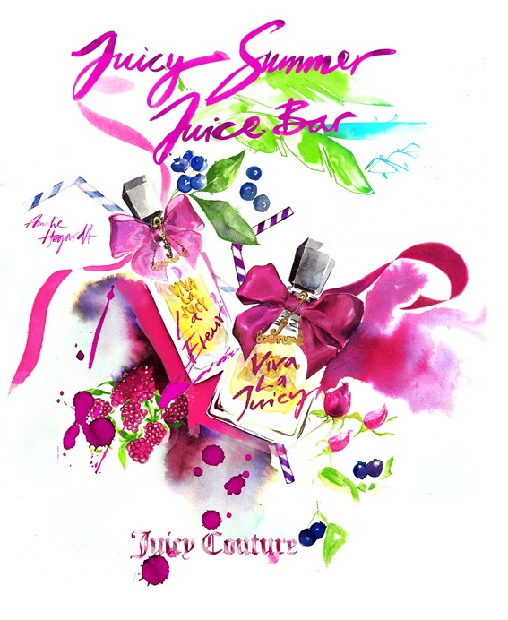 Fashion Illustration by Amelie Hegardt for Juicy Couture
