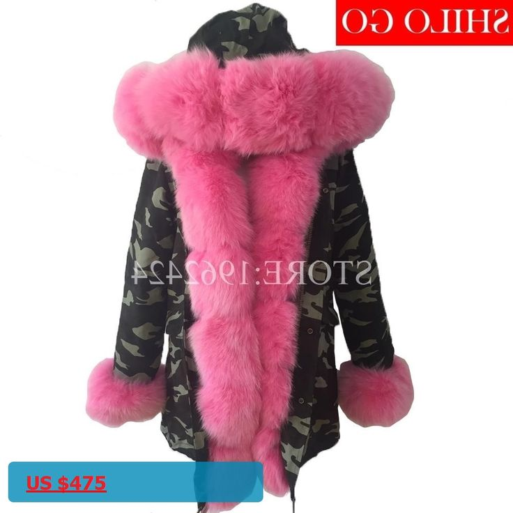 plus size 2017 new long Camouflage winter jacket women outwear thick parkas natural real fox fur collar coat hooded pelliccia