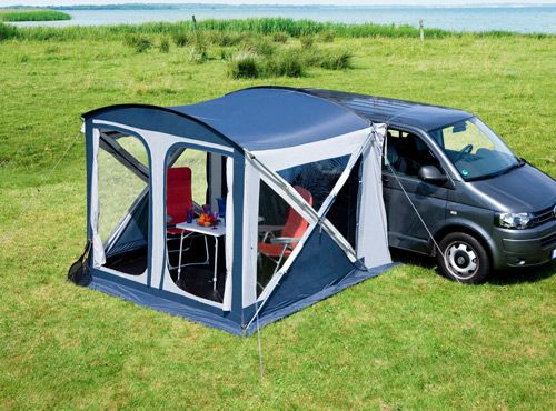van tent / awning. this would be cool for trips out shooting or day trips to the river