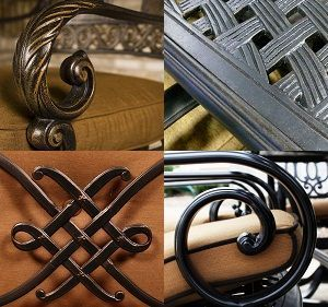 Cast Aluminum Patio Furniture Care, Cleaning & Tips CARE: Cast aluminum furniture should be covered in the winter or stored in a shed or garage to protect it from harsh elements.  TIP: Maintain or restore the luster of the powder-coated finish of your cast aluminum furniture by applying a coat of clear liquid car wax once a season.