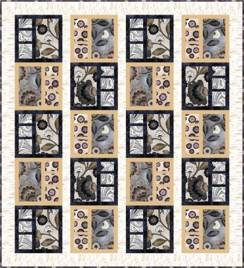 The Gallery - interesting layout idea for a modern quilt or even a photo quilt