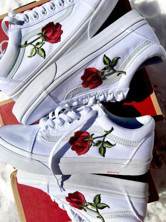 Roses Custom Vans by KixNY on Etsy