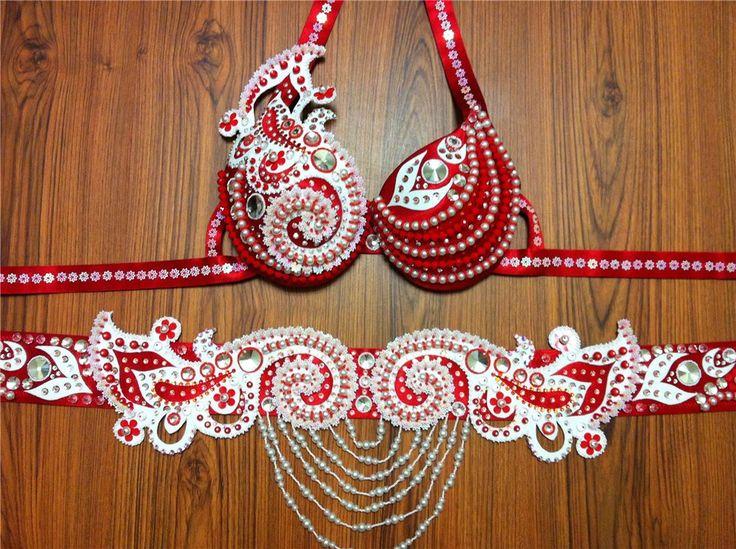 Belly dance Belts red