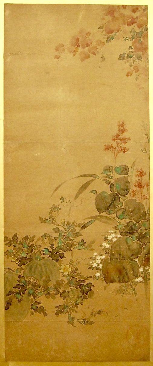 Ink and colours on paper. Tawaraya Sotatsu (俵屋宗達). Rinpa School. Edo Period. British Museum.