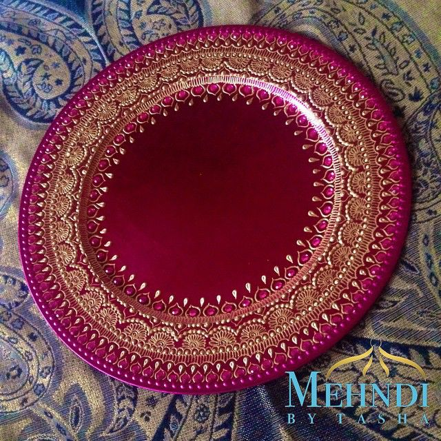 Pink thaal order --- For orders: DM or email mehndibytasha@gmail.com…