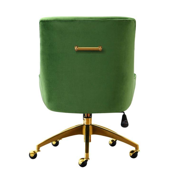 Candelabra home beatrix office swivel chair green in