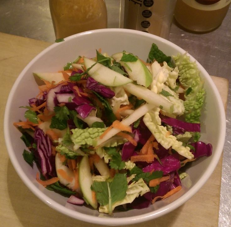 SHOTT Lime and Apple Slaw: Ingredients Salad 1/2 Red Cabbage (finely chopped) 1/2 Green Cabbage (finely(finely chopped) chopped) 2x Green Apples (finely chopped) …
