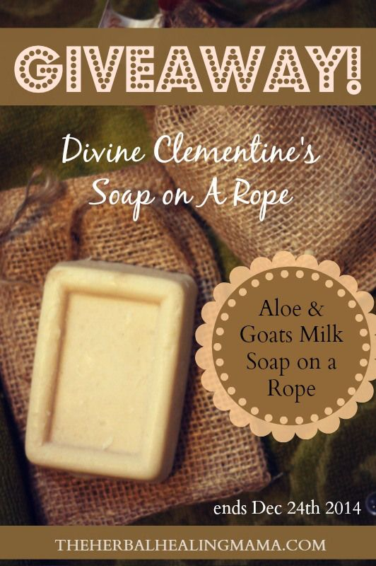 ENTER TO WIN - An All Natural Bar of Divine Clementine's Aloe Goat's Milk Soap on a Rope! ~ http://wp.me/p4HPKF-oz #GIVEAWAY
