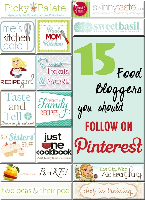 15 of the Best Food Blogs You Should Follow on Pinterest!! Get ready to do some pinning!