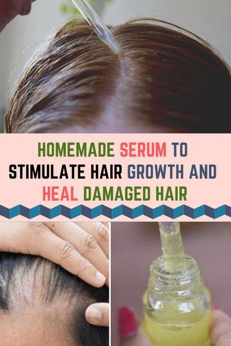 Homemade Serum To Stimulate Hair Growth And Heal Damaged Hair