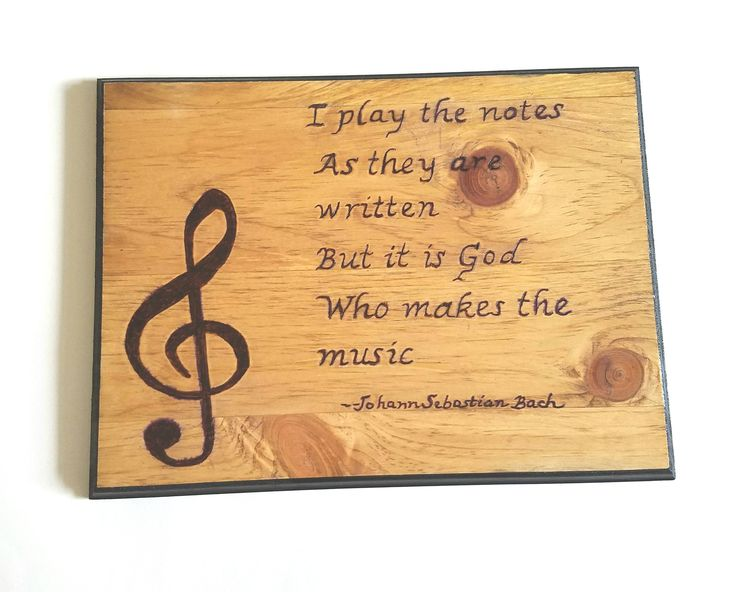 Wood music sign, wood burned music plaque, music gift, rustic decor, gift for music lover, wall hanging, home decor, music quote, gift by HummingbirdCraftsLLC on Etsy