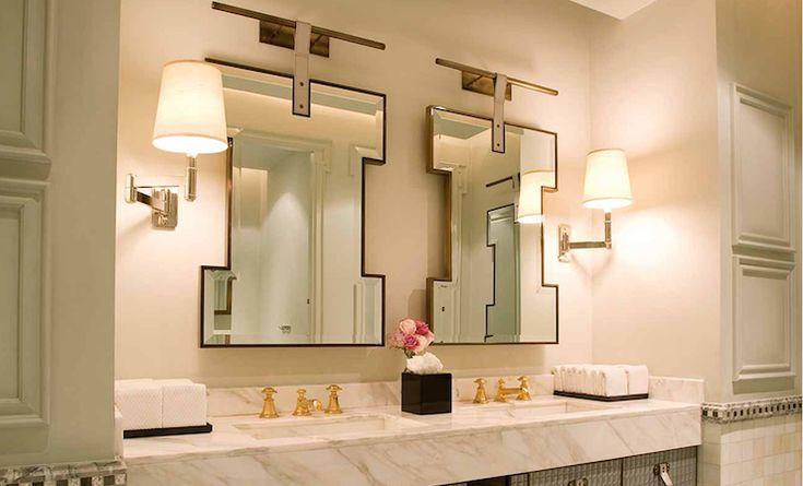 Love the thick counter: Bathroom Design, David Collins, Marbles Tops, Decor Bathroom, Modern Bathroom, Master Bath, Bathroom Interiors Design, Chic Bathroom, Design Bathroom