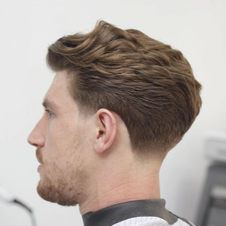 Wavy Back With Taper Fade