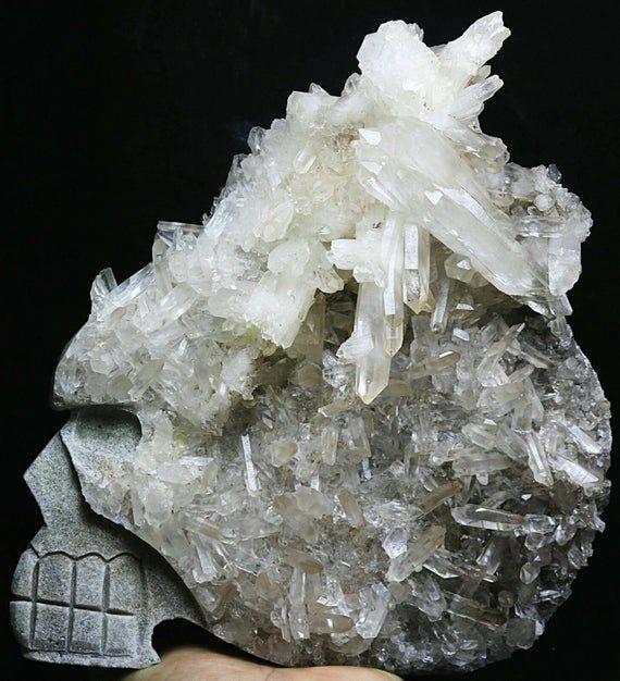 150-180MM Rare black quartz crystal healing wand