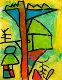Paul Klee lesson...love the color!: Magic Trees Houses, Idea, Color, Oil Pastel, Magic Tree Houses, Houses Composition