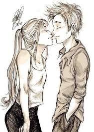 Resultado de imagem para desenhos para colorir de namorados se beijando a menina morena e o menino bramco