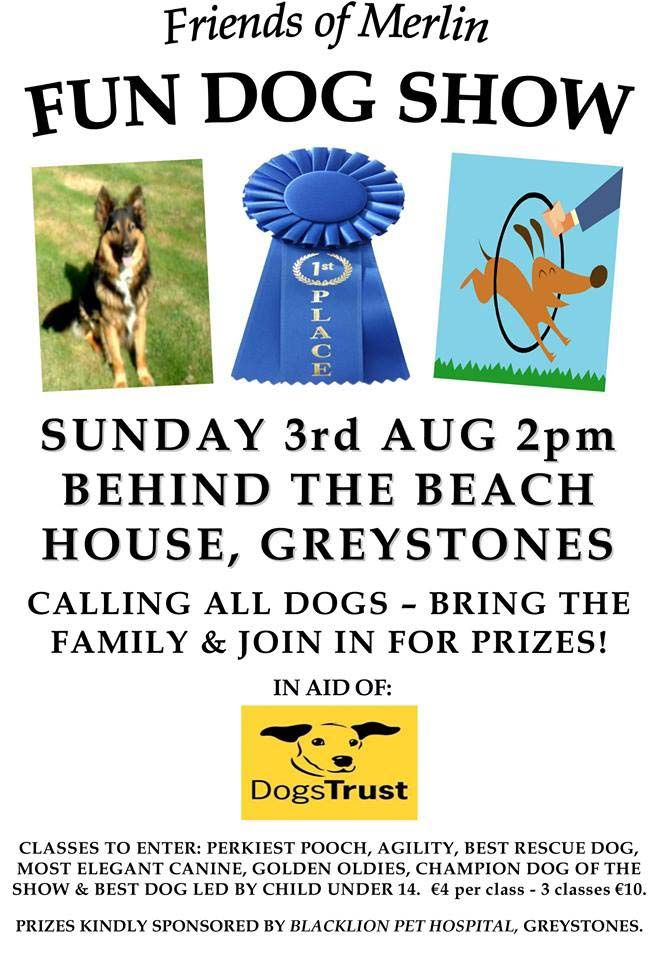 Friends of Merlin FUN DOG SHOW in aid of Dogs Trust