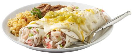 Seafood Enchiladas - Dive in taste buds first. One taste of these seafood enchiladas and you'll be instantly hooked. - CHI-CHI'S®