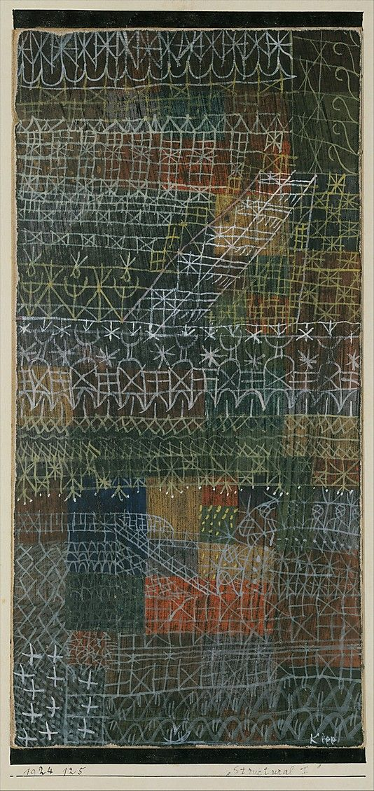 Paul Klee. Structural I (1924). Gouache on cardboard, bordered with ink. The Berggruen Klee Collection, 1984.