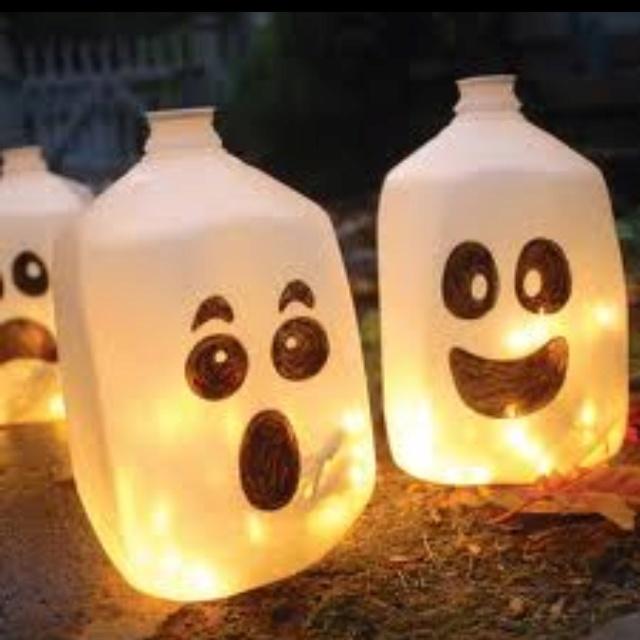 Milk jug halloween lights !!!!