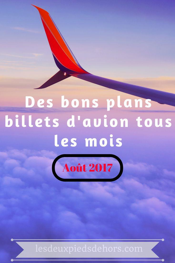 Venez découvrir tous les bons plans de billets d'avion en ce mois d'août 2017. Cette page est actualisée tous les mois pour vous permettre de vous donner un maximum de bon plan pour partir à la découverte de destinations pas chères ! #voyage#destination#avion#bonplan#billetavion