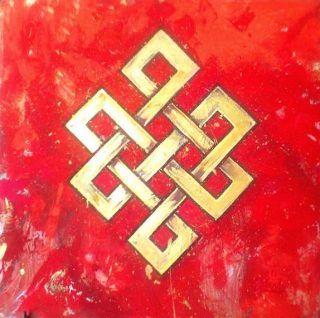 Тибетский мистический символ — узел бесконечности