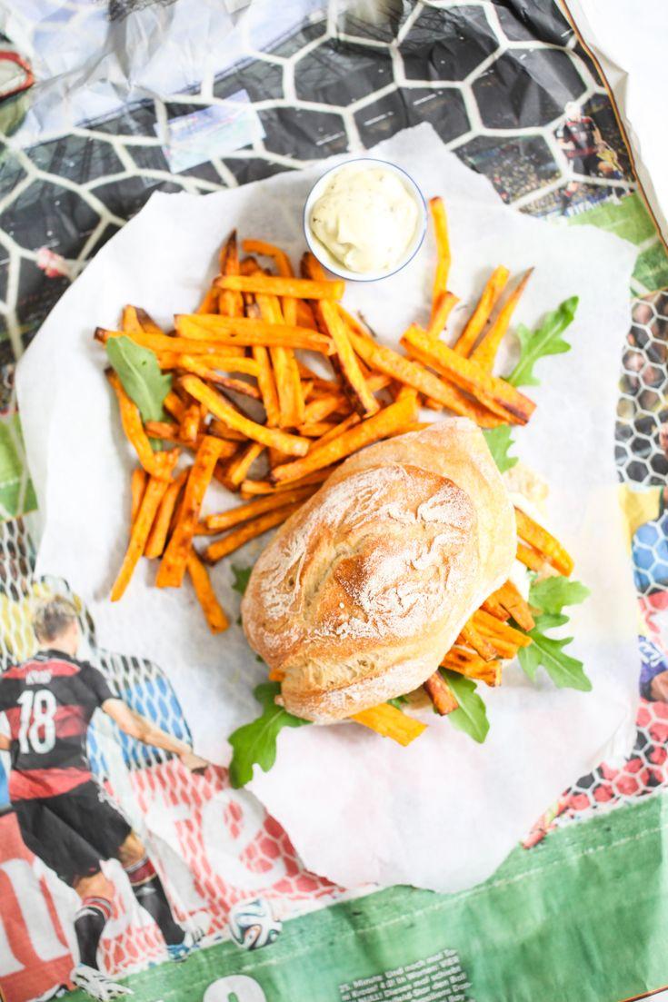 Süsskartoffel Pommes Sandwich Chip Butty Sweet potato recipe Rezept Stulle der Woche Zuckerzimtundliebe Toni Kroos