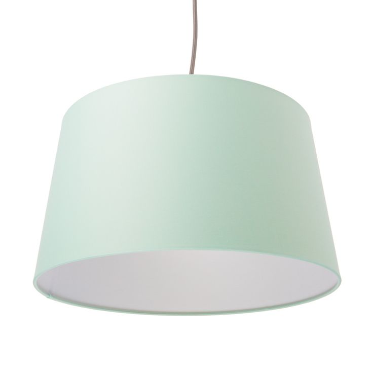 Fabric Tapered Shade - Mint Green / White | Color Cord Company