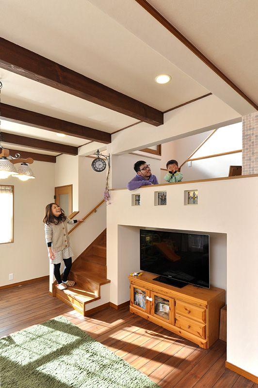 中二階が家族をつなぐ家-西三河で注文住宅・新築一戸建てなら株式会社シンカ(愛知県高浜市)