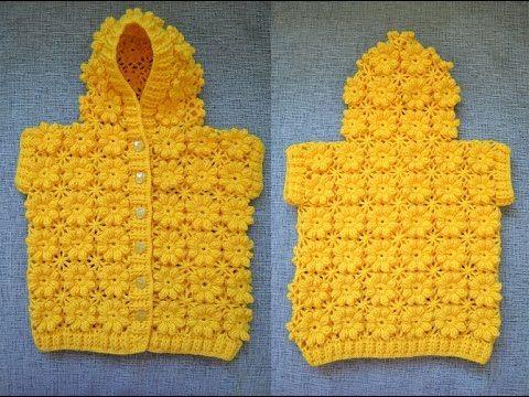 """Como tejer el punto """"flor"""" al crochet paso a paso en video   Crochet y dos agujas"""