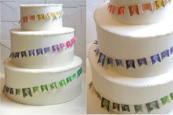 Stamp Inspired Wedding Cake Cakes Cupcakes On The Brain Pinte