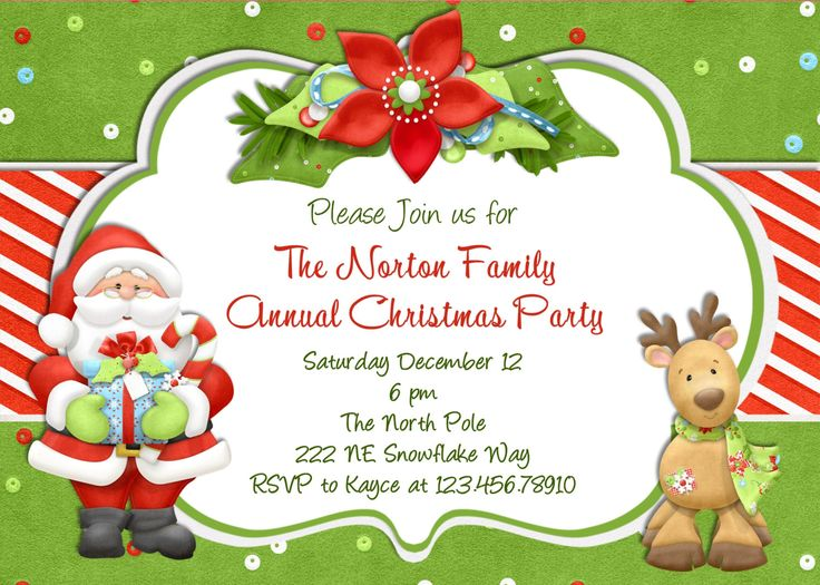 Best 25+ Christmas party invitation template ideas on Pinterest - free xmas letter templates