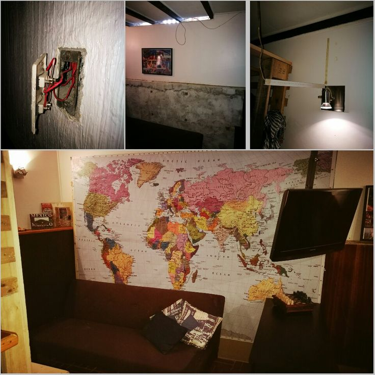 Wood proyect 11 Pared con mapa gigante #diseñorustico