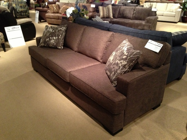 Very Square Brown Sofa By Stanton Furniture. // Www.KeyHomeFurnishings.com  In
