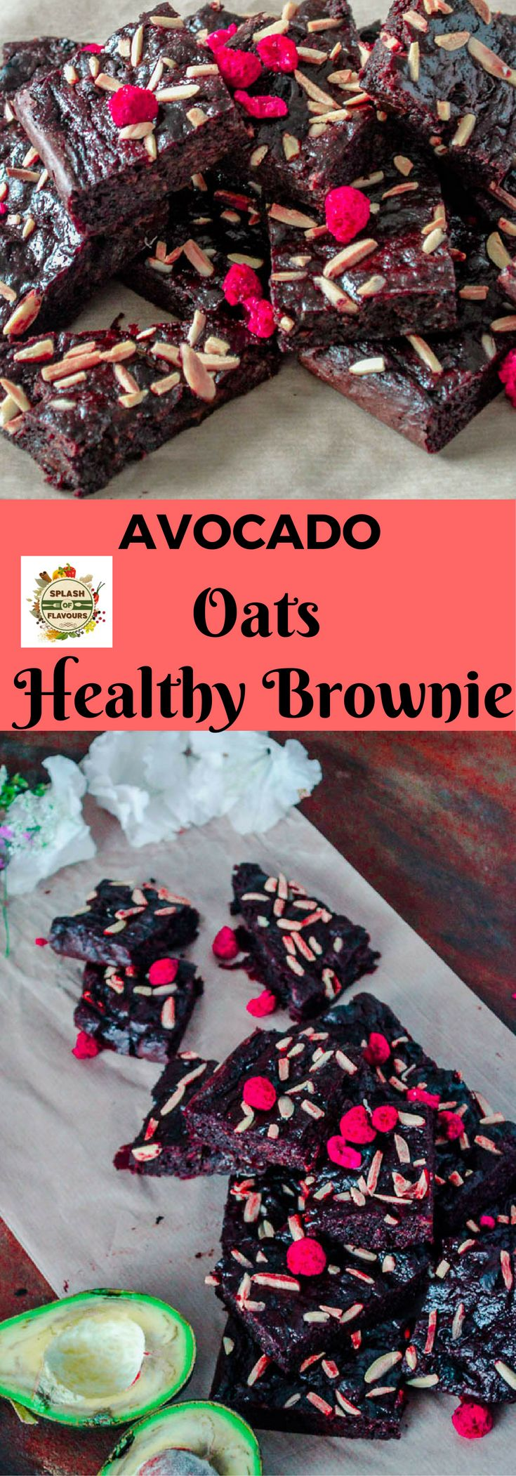 These delicious and super healthy brownies are made of avocado, oats and other few more healthy ingredients. No flour and butter is used.