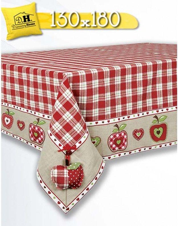 Tovaglia Angelica Home & Country Collezione Mele 130x180