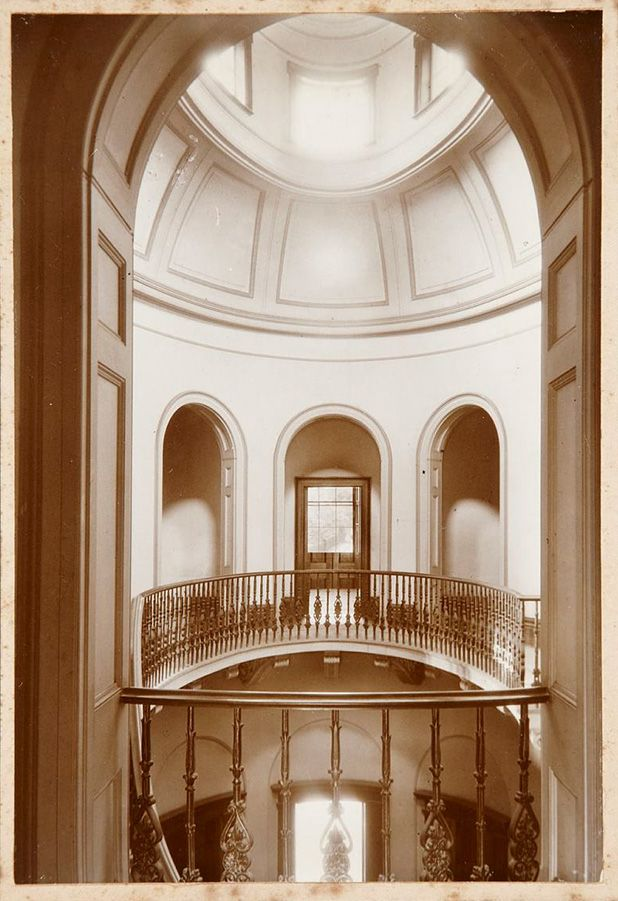 View across the saloon at Elizabeth Bay House, Colonnade and Dome, Thomas Joseph Lawlor, [1935]. Caroline Simpson Library and Research Collection