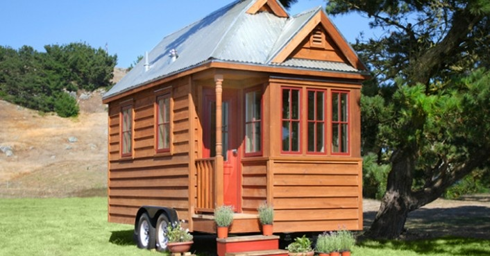 """""""The Mobile Kermitage"""" 140 sq ft, Tumbleweed Tiny House Co. $49,000 goes against the concept, yes?"""