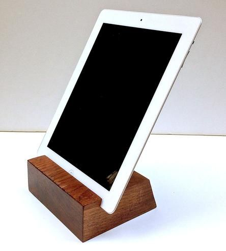 Minimal Walnut Wood iPad Stand by Sean Alan Designs on Scoutmob Shoppe