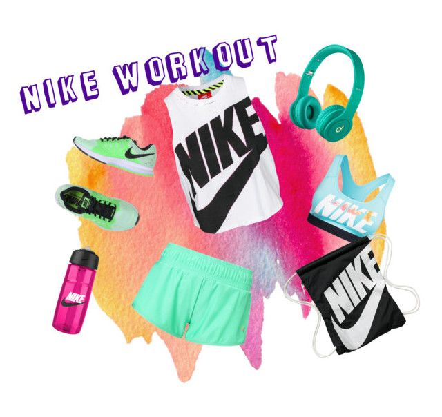 """""""NIKE Workout Gear"""" by alyssa-glubis ❤ liked on Polyvore featuring Sweaty Betty, NIKE and Beats by Dr. Dre"""