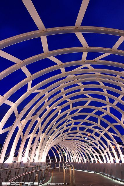 Webb Bridge at The Blue Hour, Docklands, Melbourne, Victoria.