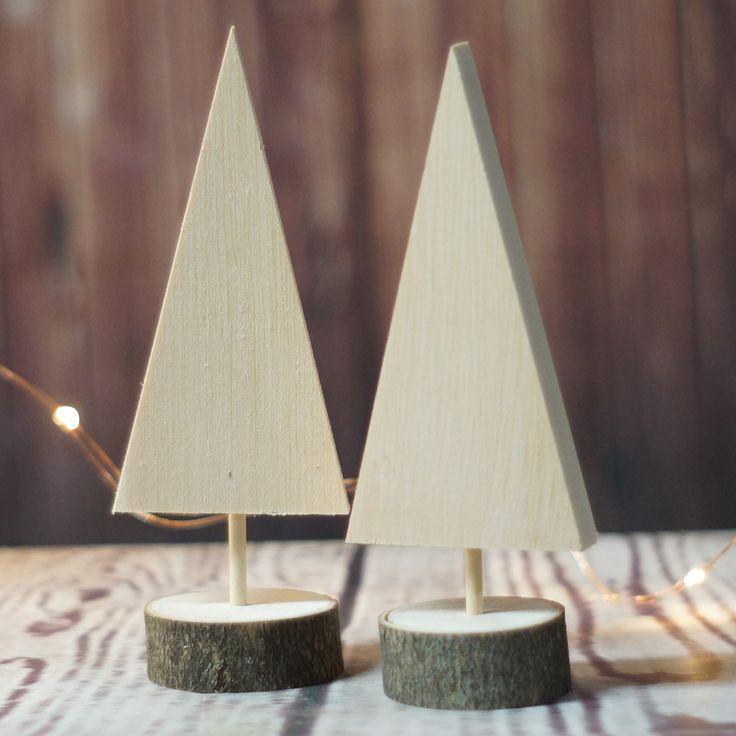 DIY Christmas Tree Set of 2 - Kids Christmas DIY Painting Project