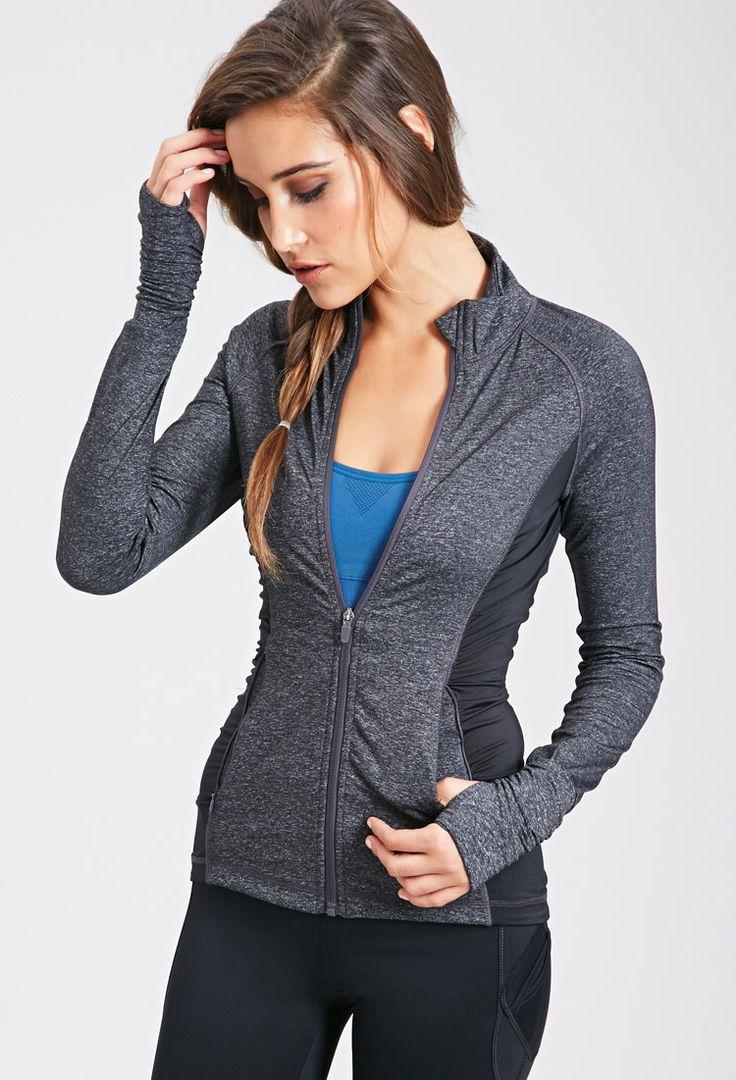 Mesh Paneled Athletic Track Jacket Activewear