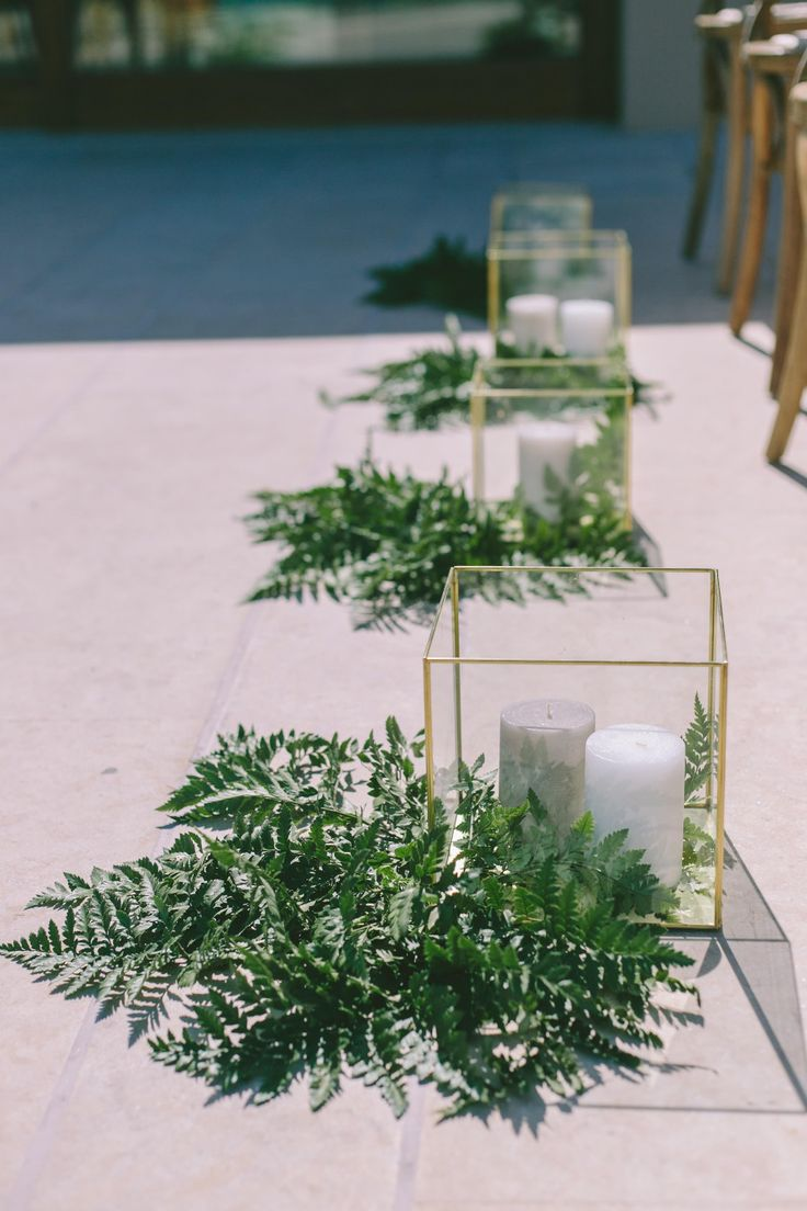 Botanical wedding decoration